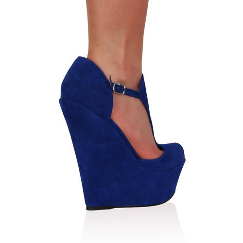 stylish high shoes platform front open wedge heel women. Black Bedroom Furniture Sets. Home Design Ideas