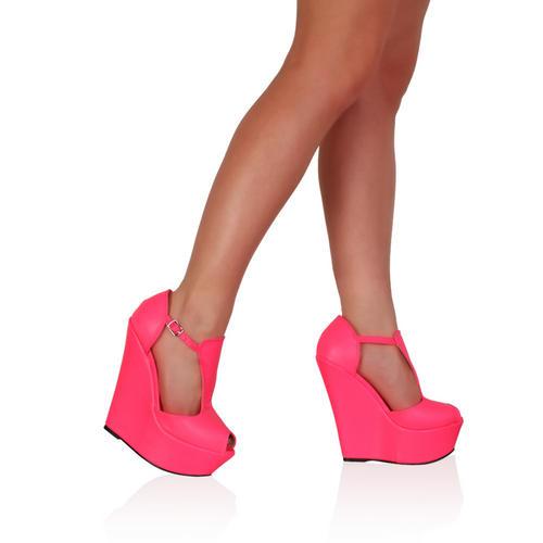 Sandales Femmes ETE Compensé Talon Haut Compensé Chaussures Bout