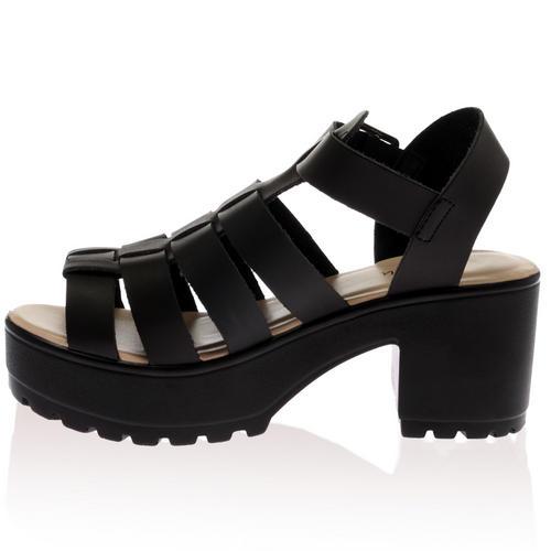 chaussures femme plateforme lani re peep epais gladiateur. Black Bedroom Furniture Sets. Home Design Ideas