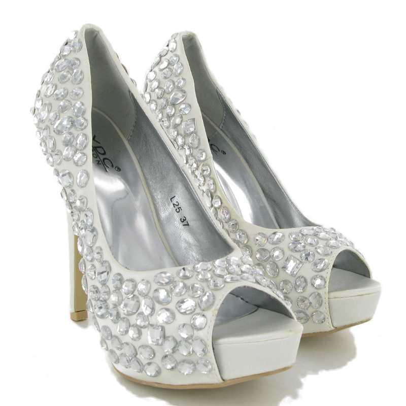new ivory wedding stiletto heels womens diamante