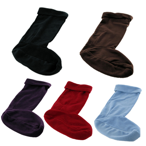 NEW BROWN FLEECE WARM WELLY SOCKS WELLINGTON BOOTS 3/4
