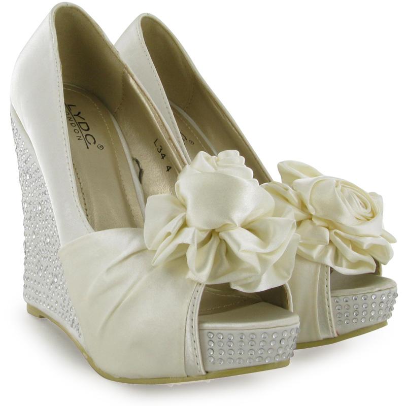 Captivating Wedge Ivory Wedding Shoes : Kanita Hot Springs Oregon