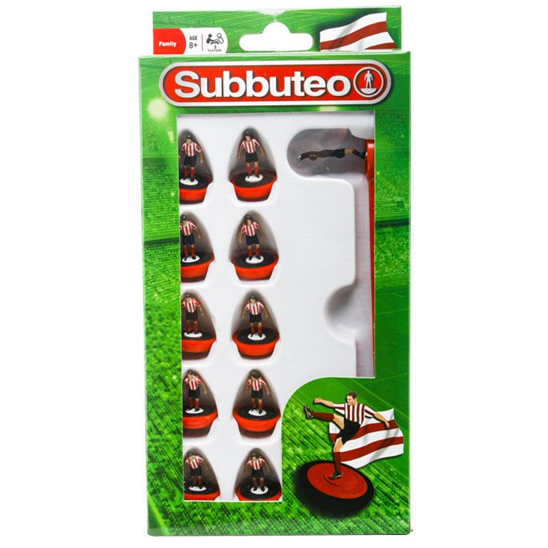 NEW HASBRO RED AND WHITE STRIPED SUBBUTEO 11 SPARE FLEXIBLE PLAYERS SET 8 YRS +