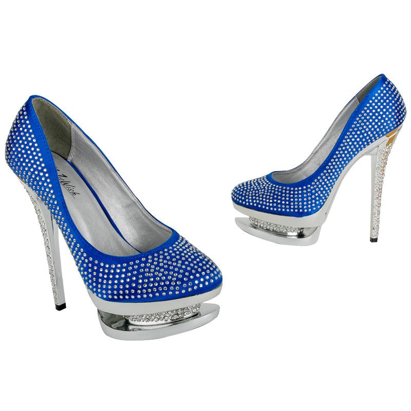Blue High Heels Wedding Shoes