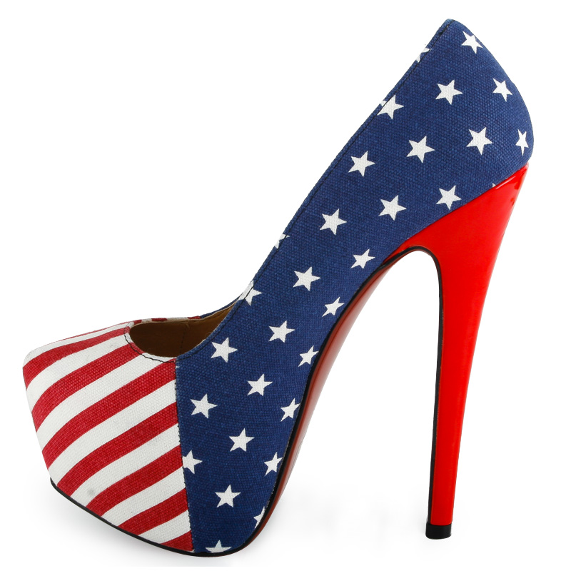 american flag concealed platform stilettos womens