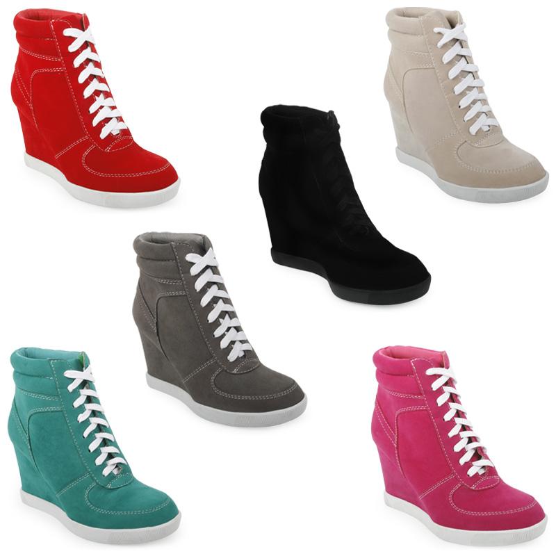 scarpe con zeppa e lacci