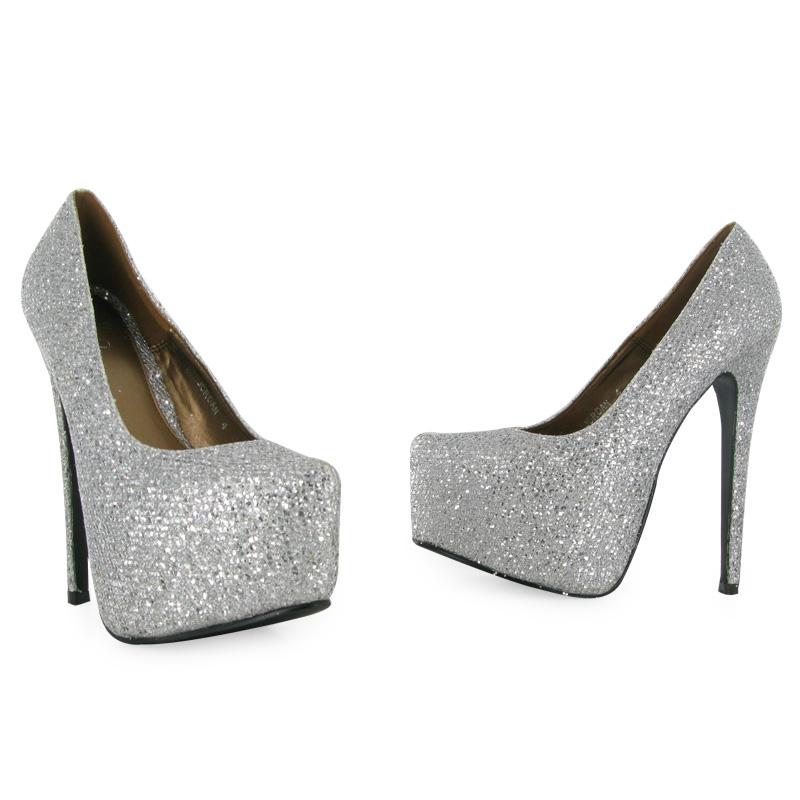 Shiny Silver Heels | Fs Heel