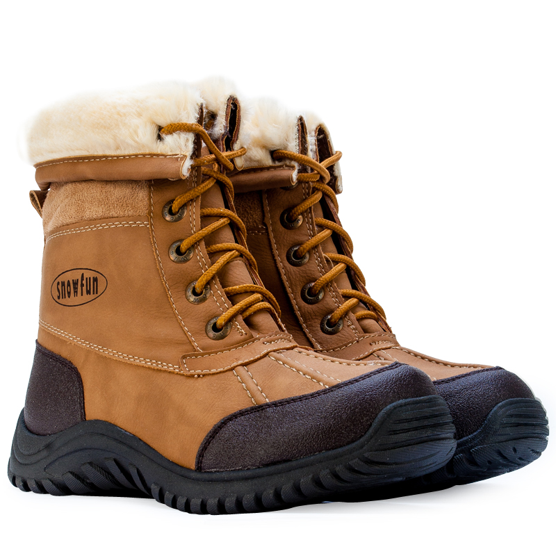 new camel winter snow grip sole fleece shoes flat