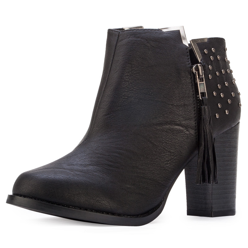 Ladies Black Ankle Boots - Boot Ri