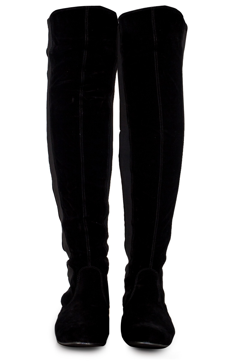 Womens Black Long Boots Coltford Boots