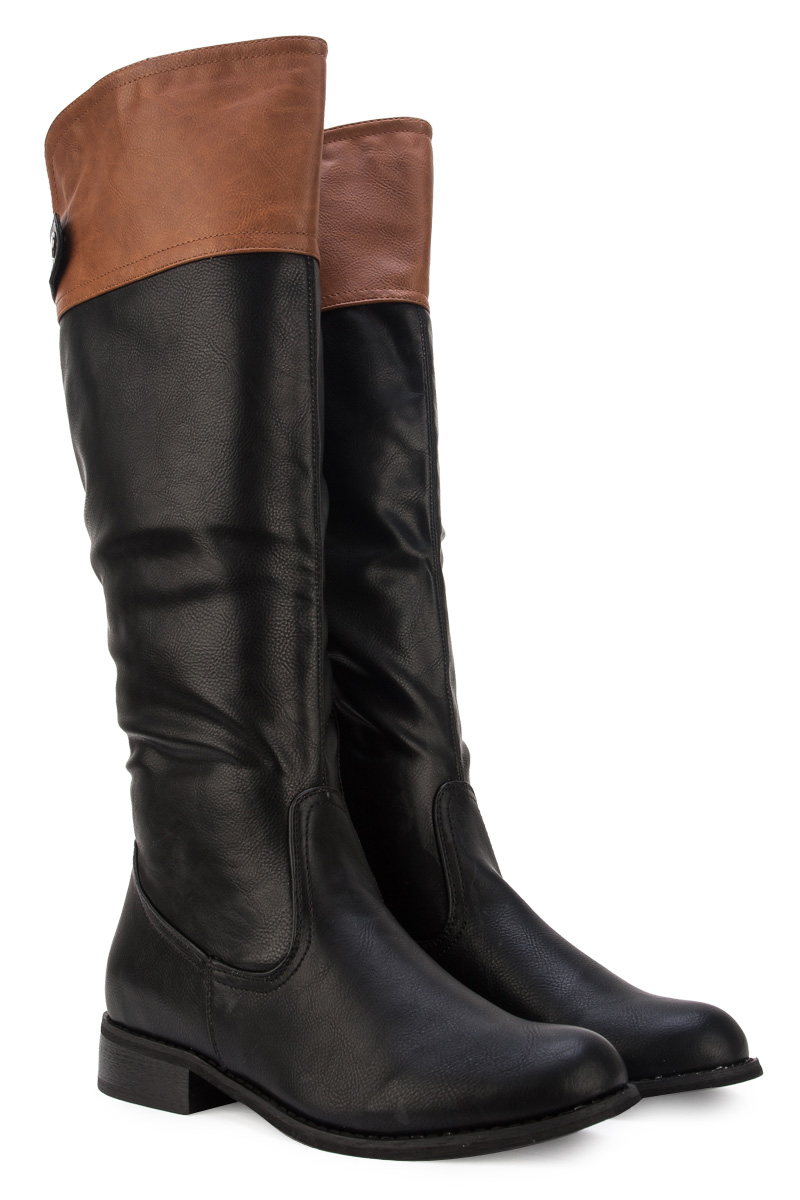 New Womens Black Tan Brown Casual Ladies Knee High Long Riding ...