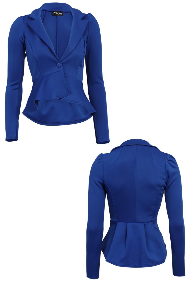 Royal blue jacket for ladies