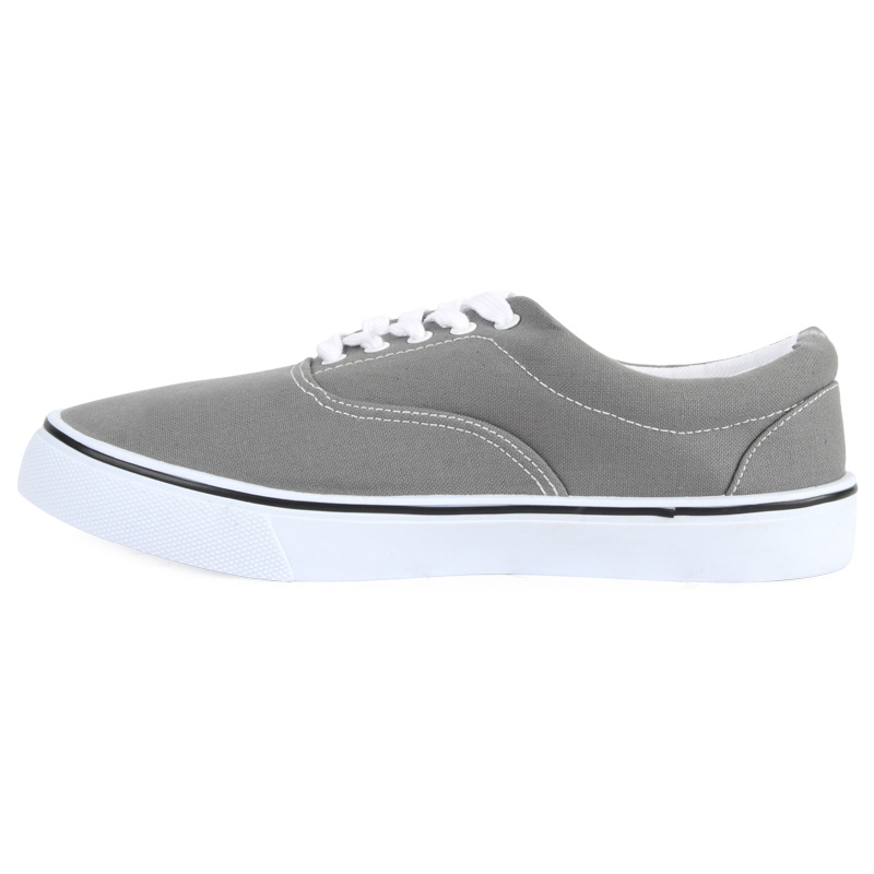 new mens grey flat lace up canvas plimsolls pumps