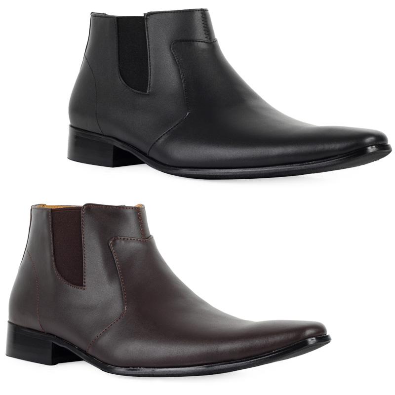 72l herren boots rei verschluss chelsea stiefel kunstleder. Black Bedroom Furniture Sets. Home Design Ideas