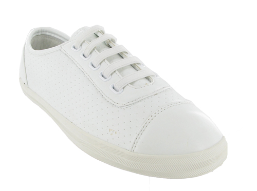 white pumps flat shoes size 3 uk new