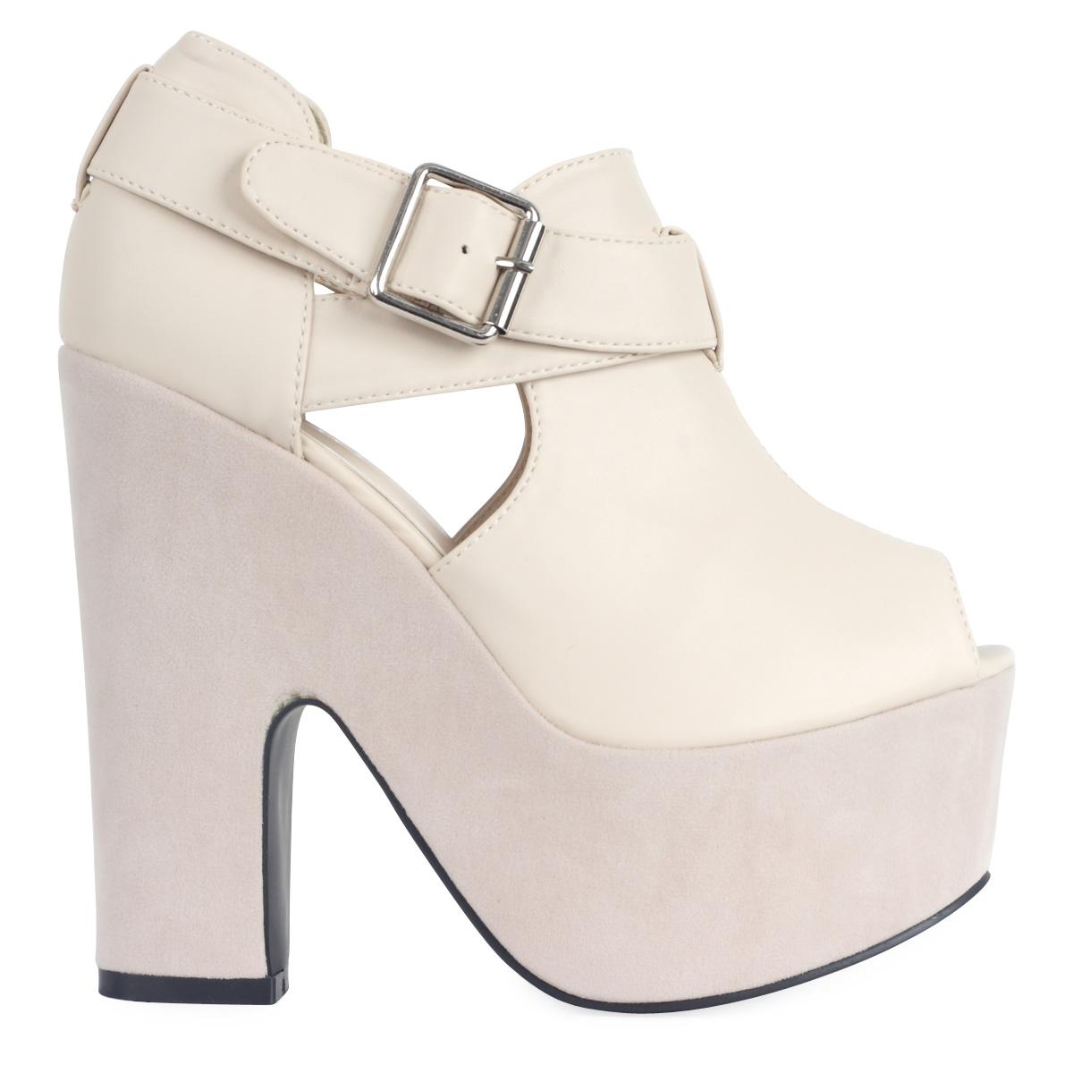 Chunky Cream Heels