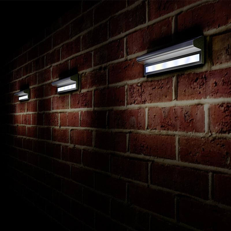 Unusual Outside Wall Lights : Kensington Solar Wall Lights Unique Home Living