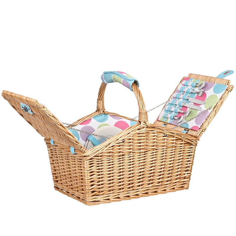 Woven Basket Procedure : Person wicker picnic basket unique home living