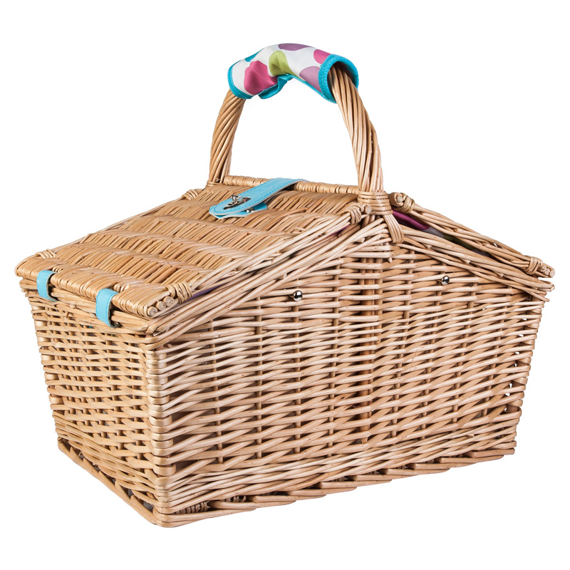4 Person Picnic Basket Uk : Person wicker picnic basket unique home living