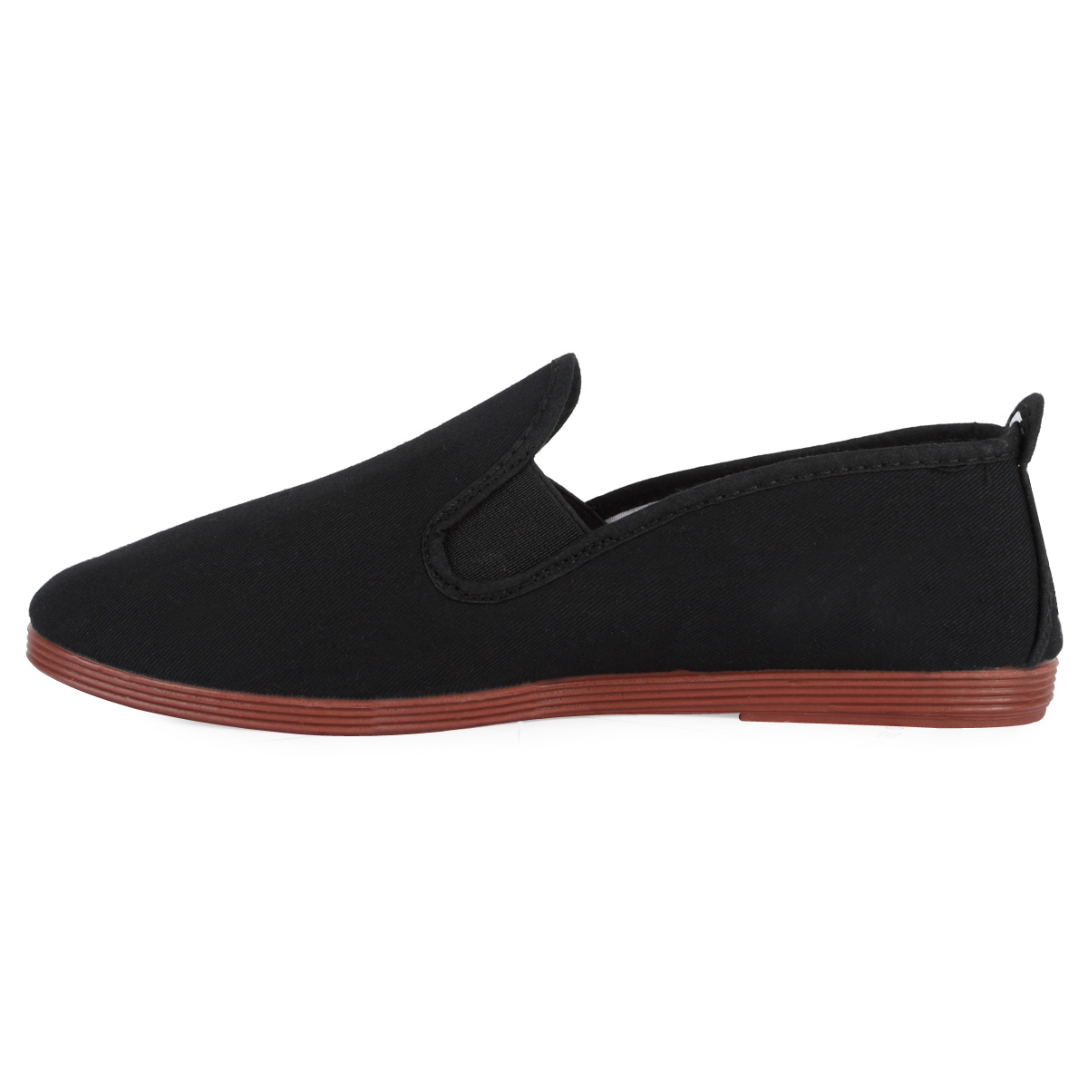 WOMENS BLACK PLAIN LADIES CASUAL SHOES CLASSIC FLAT PUMPS ...