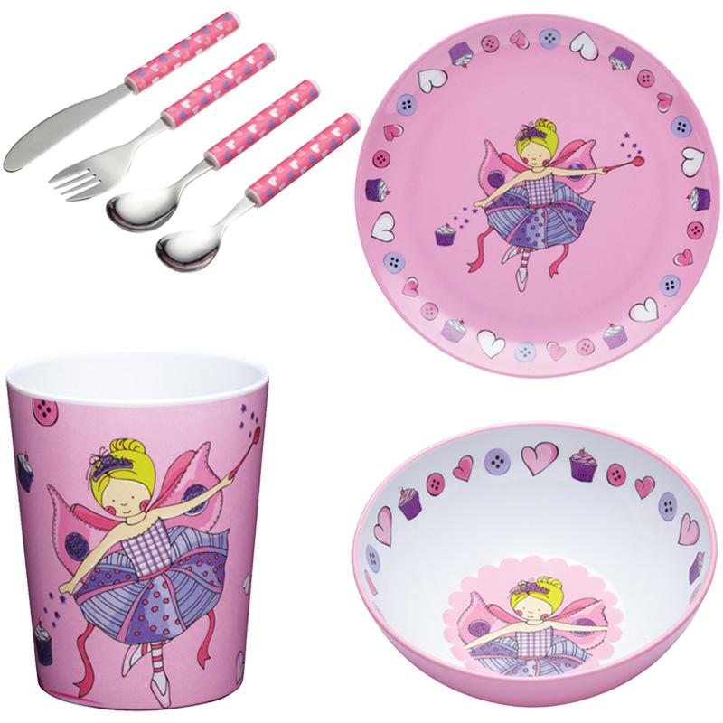 New kids pink kitchen craft girls dinner set cutlery for Kitchen craft knife set