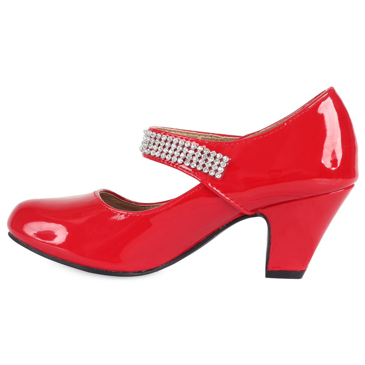 Red Small Heel Shoes - Is Heel