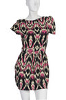 07G New Aztec Patterned Zip Summer Dress Size 8-14 UK