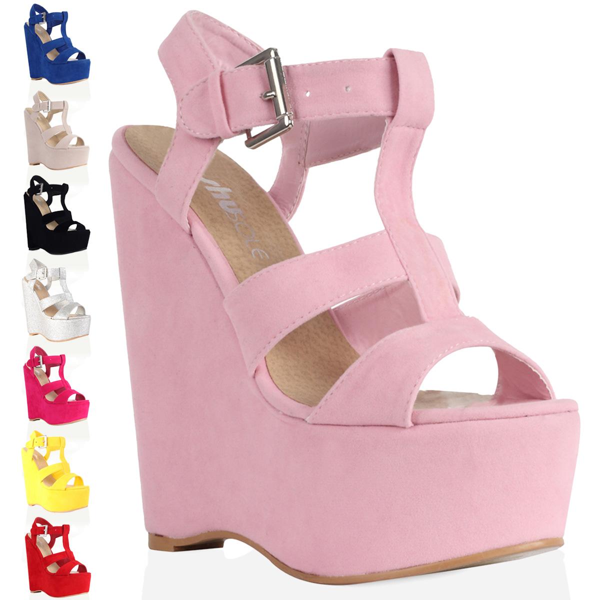 Baby Pink Wedge Heels