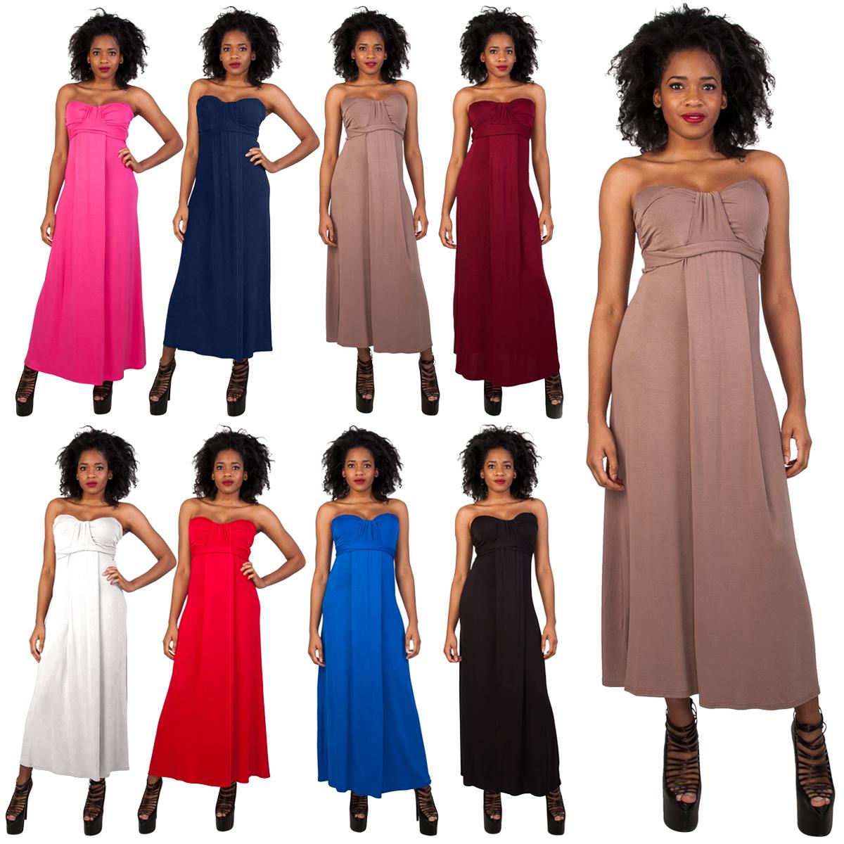 size 8 maxi dress strapless
