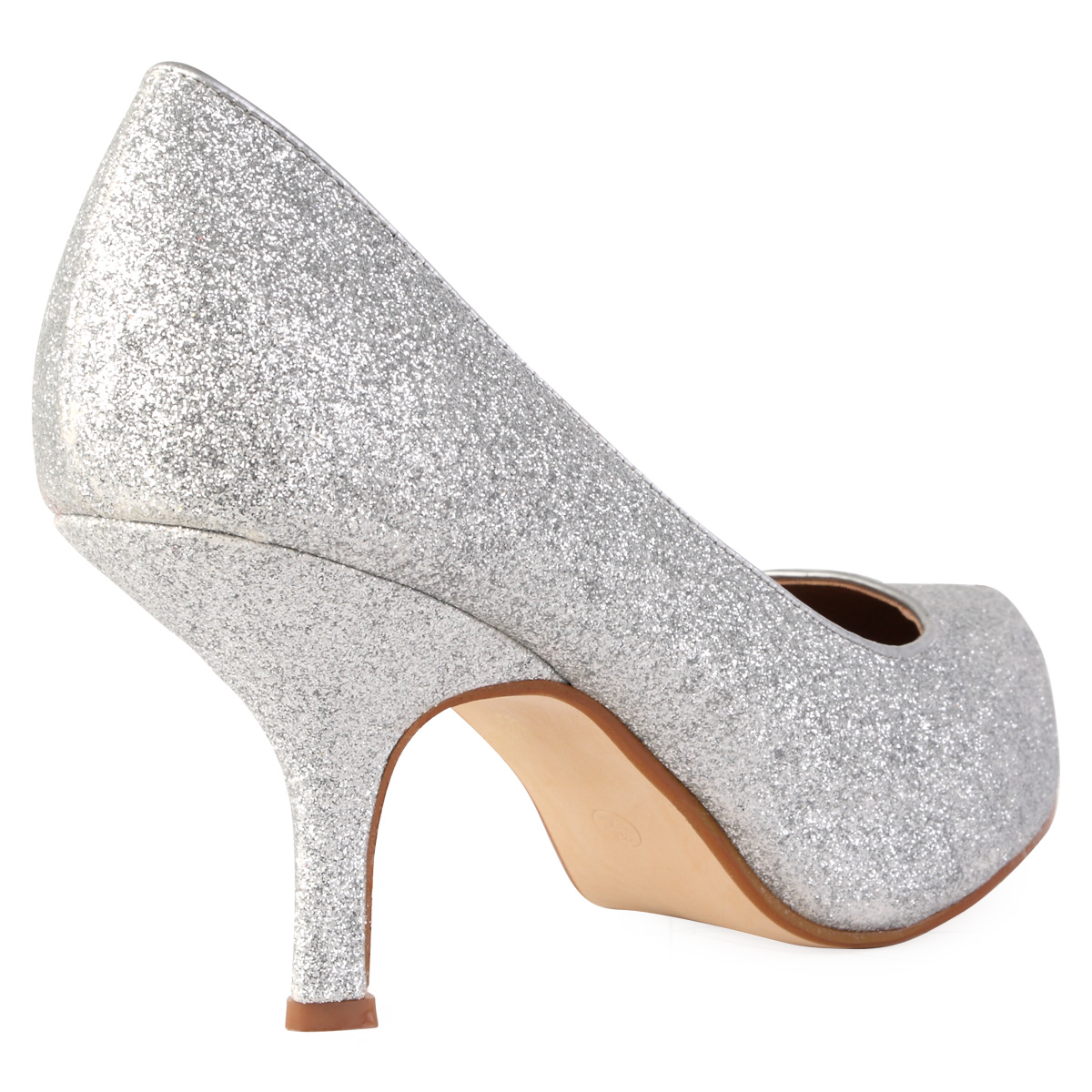 new womens silver glitter platform stiletto heel