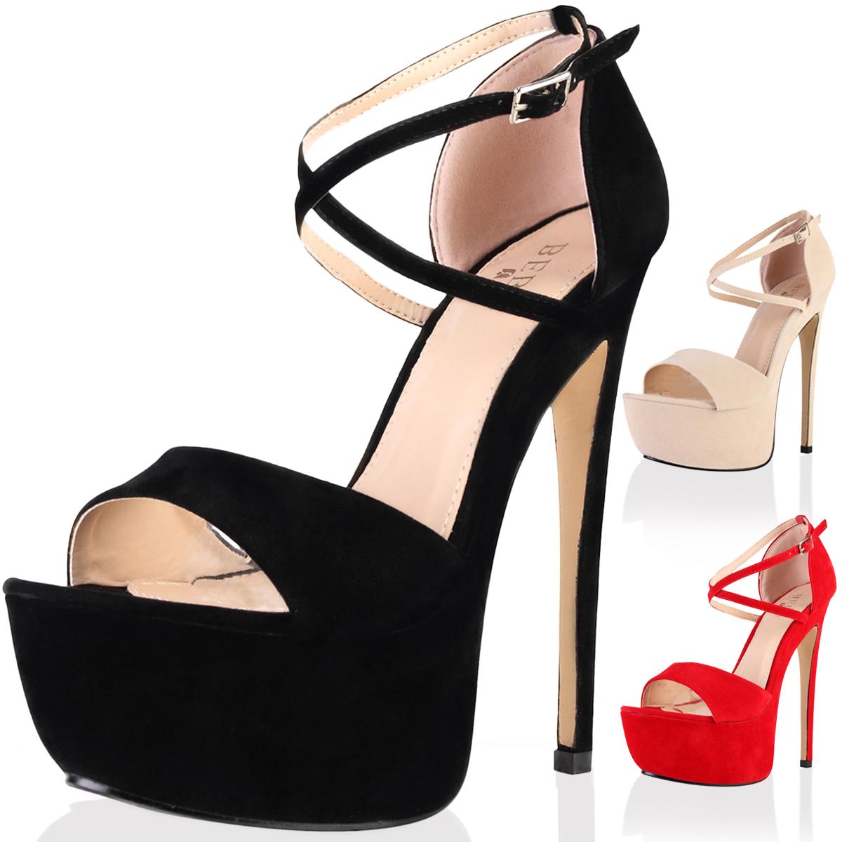 Platform Heels With Strap