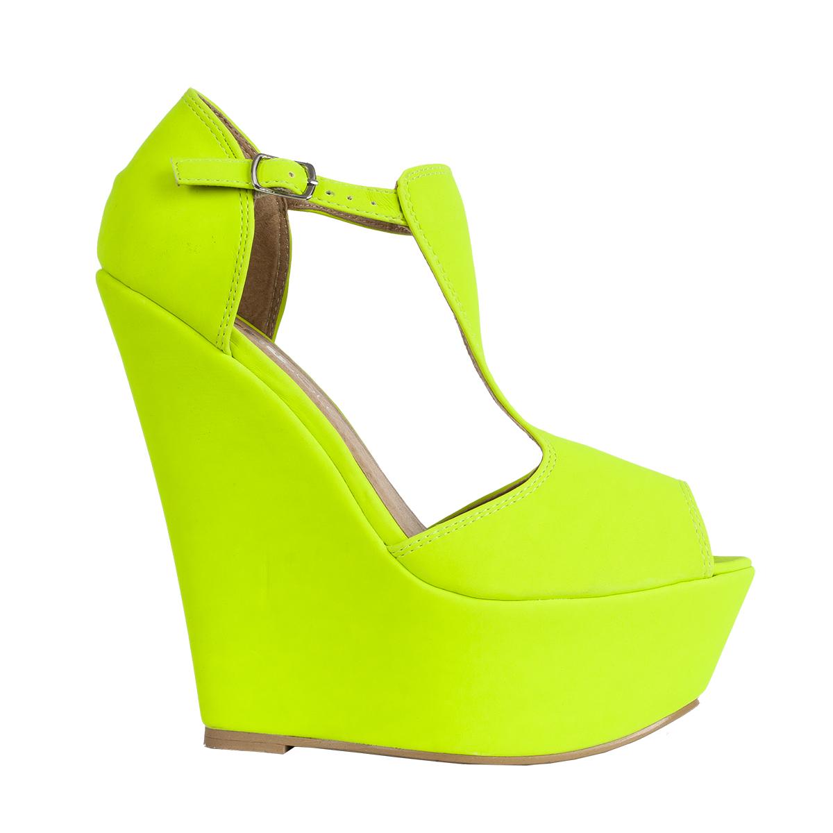 New Womens T-bar Peep Toe Ladies Platform Wedge High Heel Party ...
