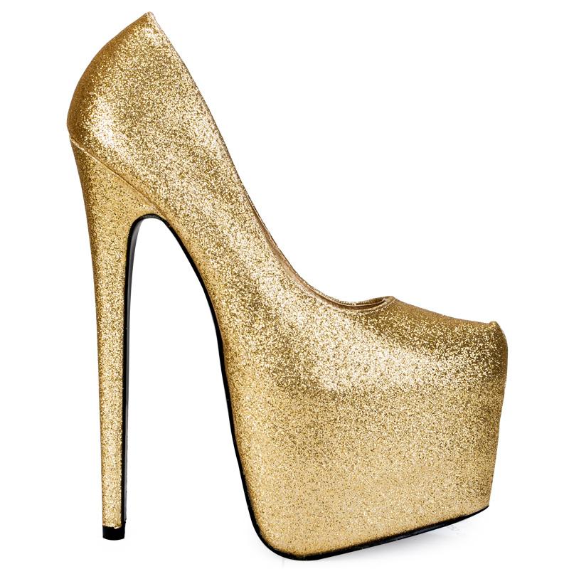 Womens Platform Shoes Gold