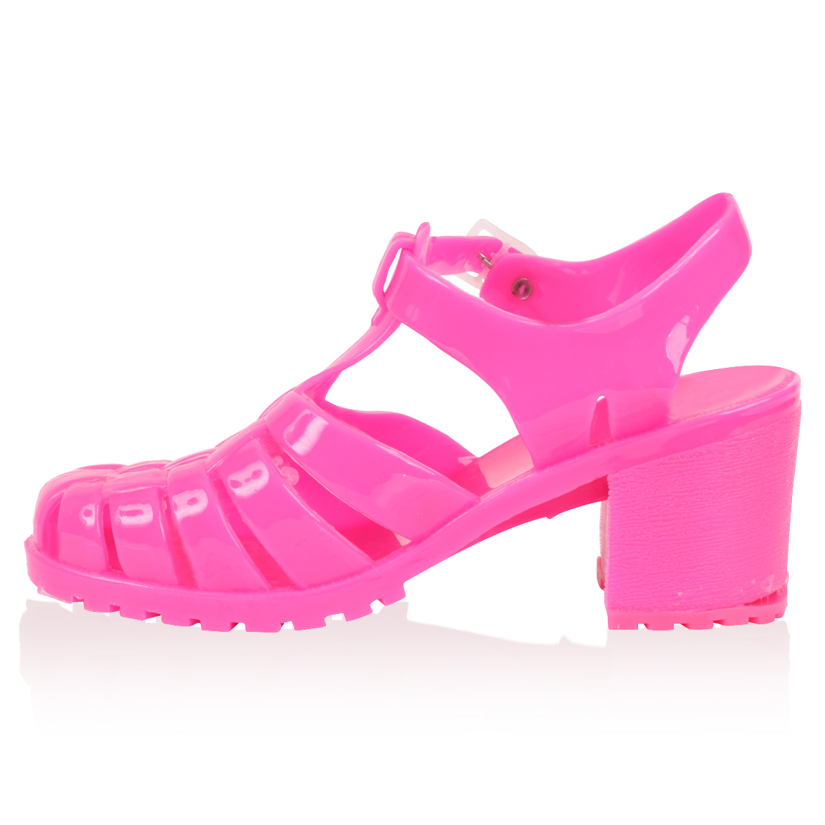 Women's jelly sandals size 10 - Ladies New Block Heel Womens Plastic Summer Beach Jelly Sandals Shoes Size 3 6