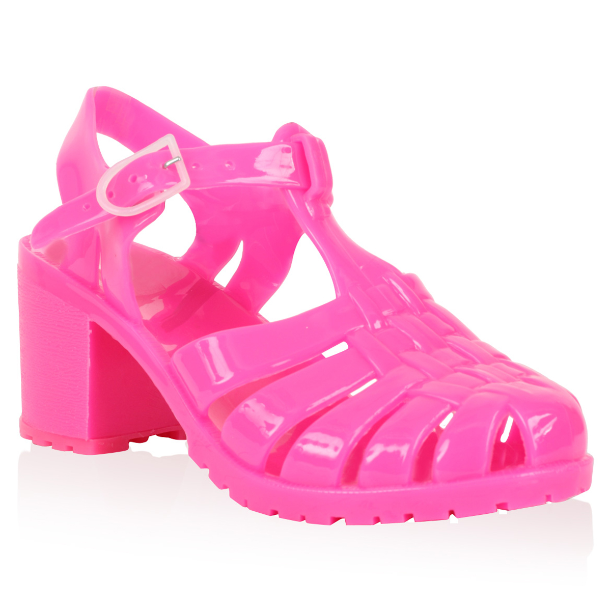 Women's jelly sandals size 10 - Womens New Pink Low Heel Ladies Summer Cut Out Sandals Jelly Shoes Size 3 8