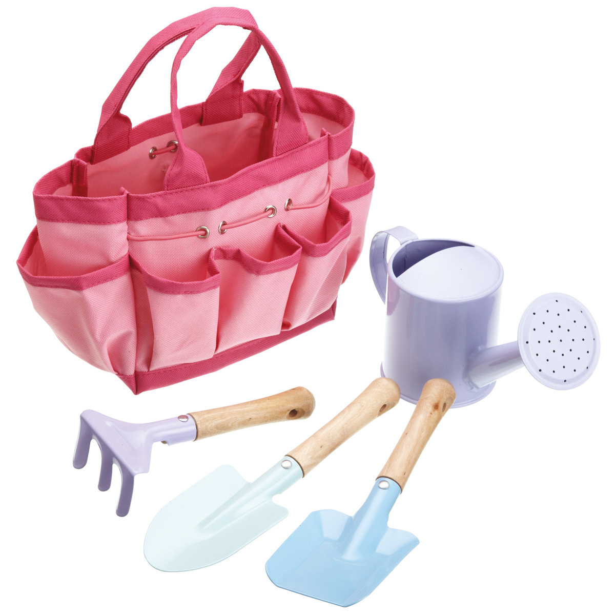 New kids miniamo girls pink pastel 5 piece gardening tools for Childrens gardening tools