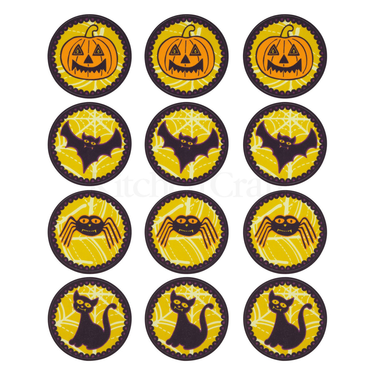Halloween Edible 12 Pack Cake Toppers | Unique Home Living