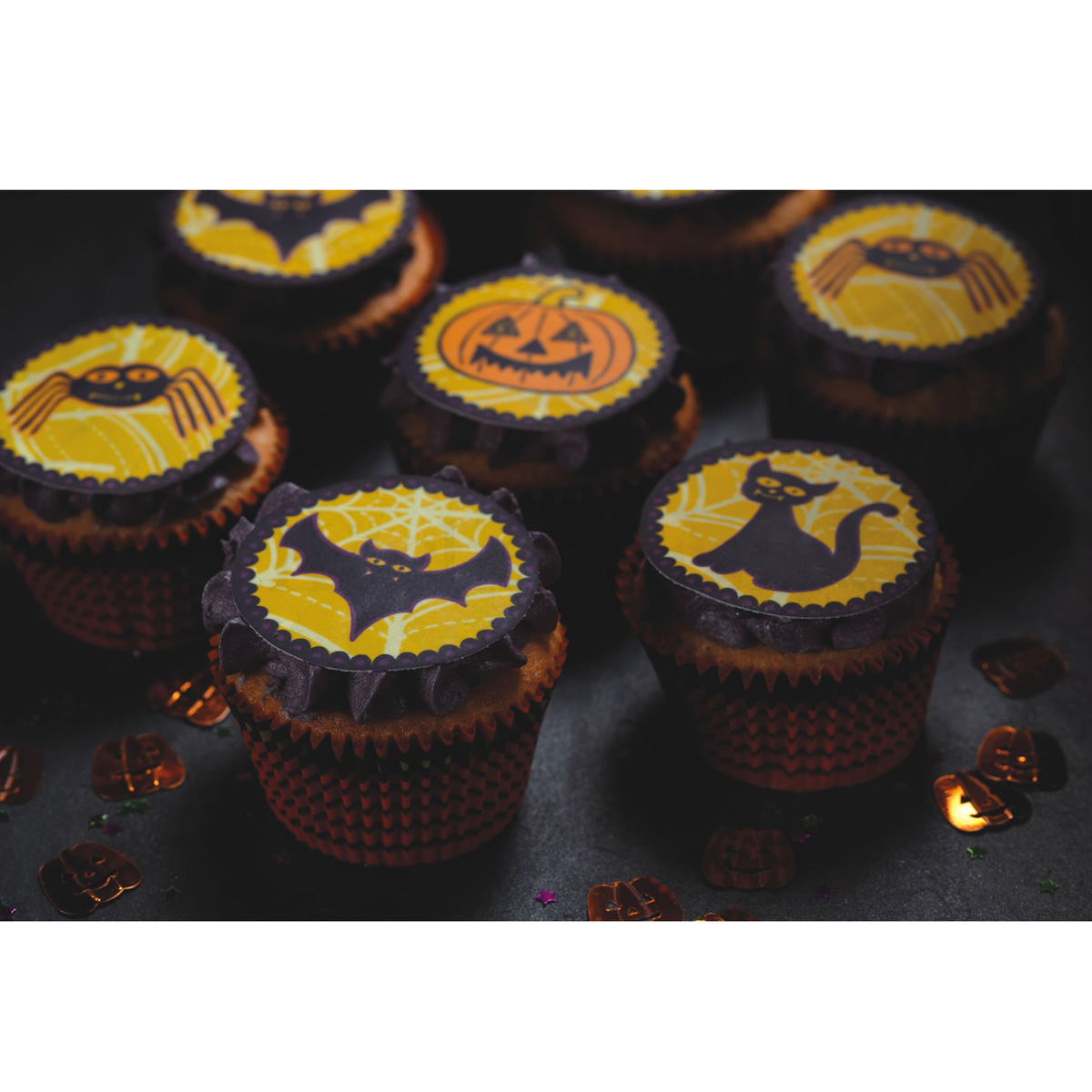 Edible Cake Decorations Halloween : Halloween Edible 12 Pack Cake Toppers Unique Home Living