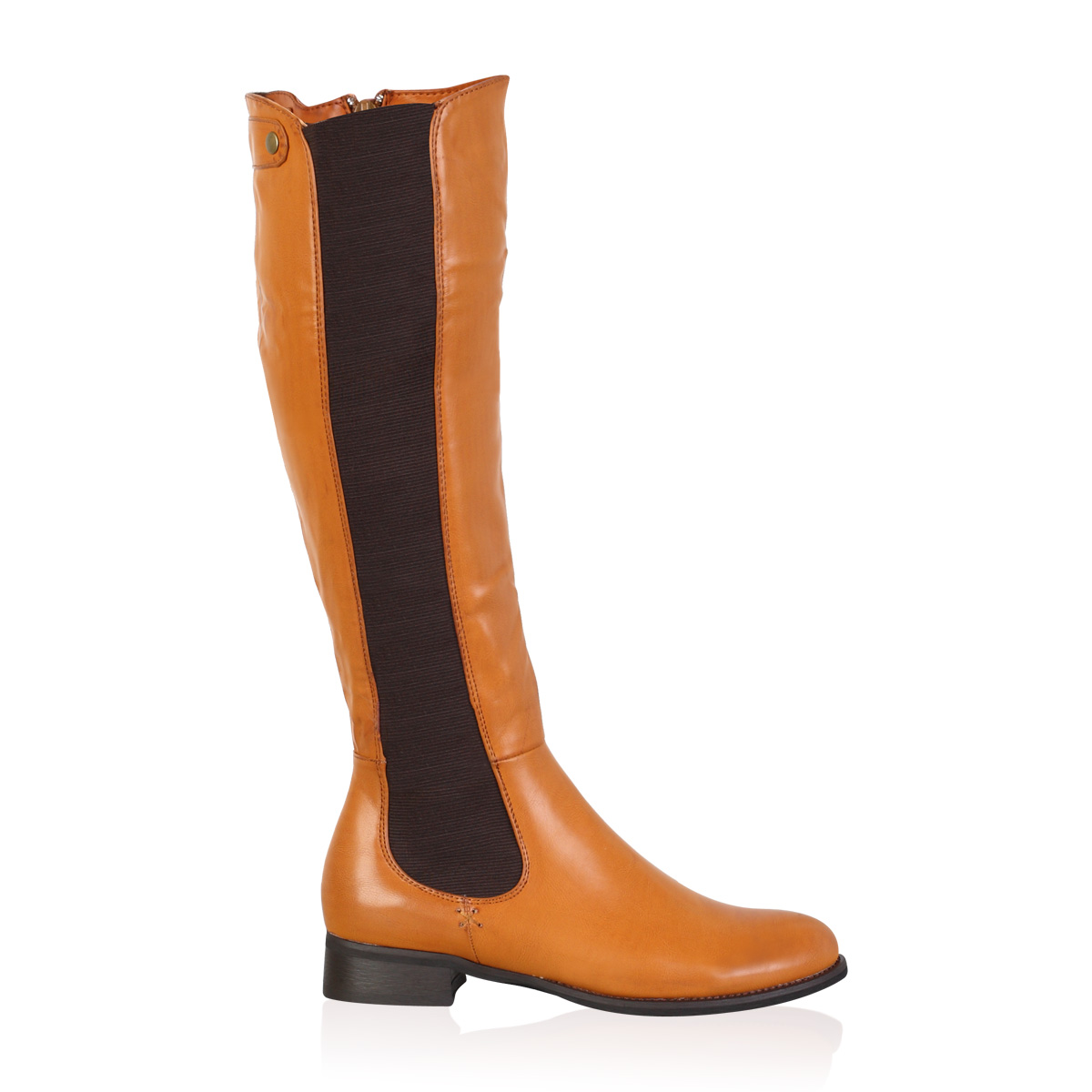 new zip up winter womens low heel knee high