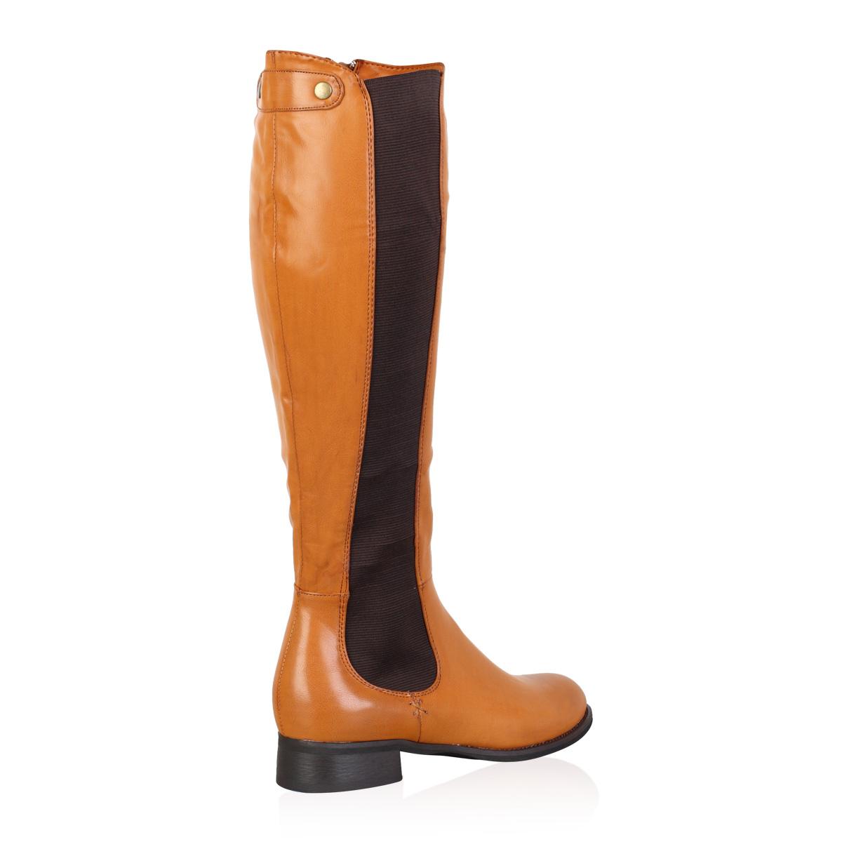 new zip up winter womens low heel knee high