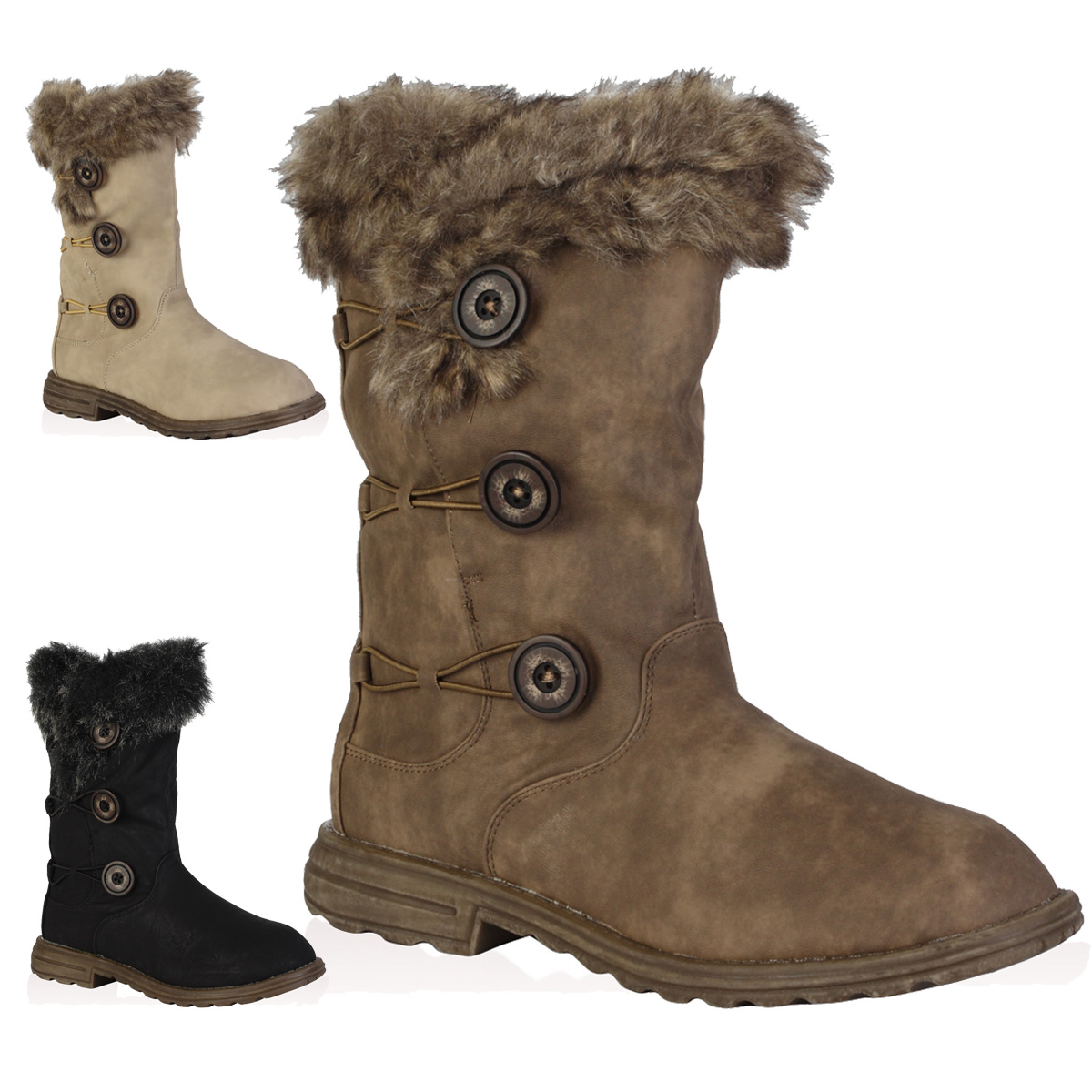 Walmart Faux Fur Lined Winter Boots | Santa Barbara Institute for ...