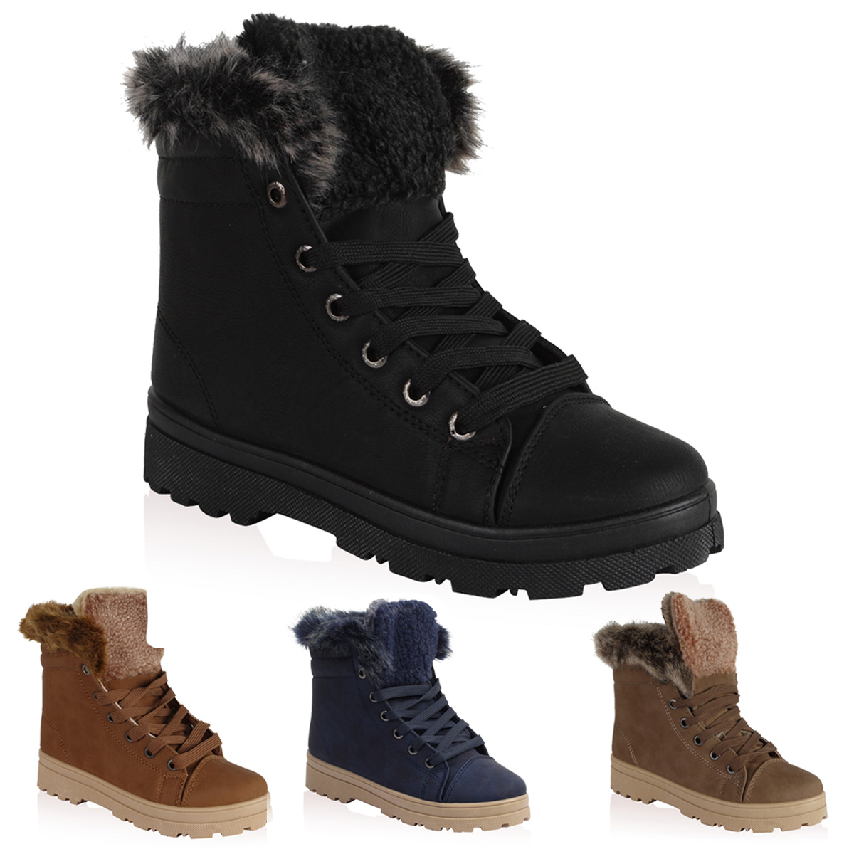 Popular HighQualityWomenSnowBoots2016WinterBootsLaceUpAnkleCasual