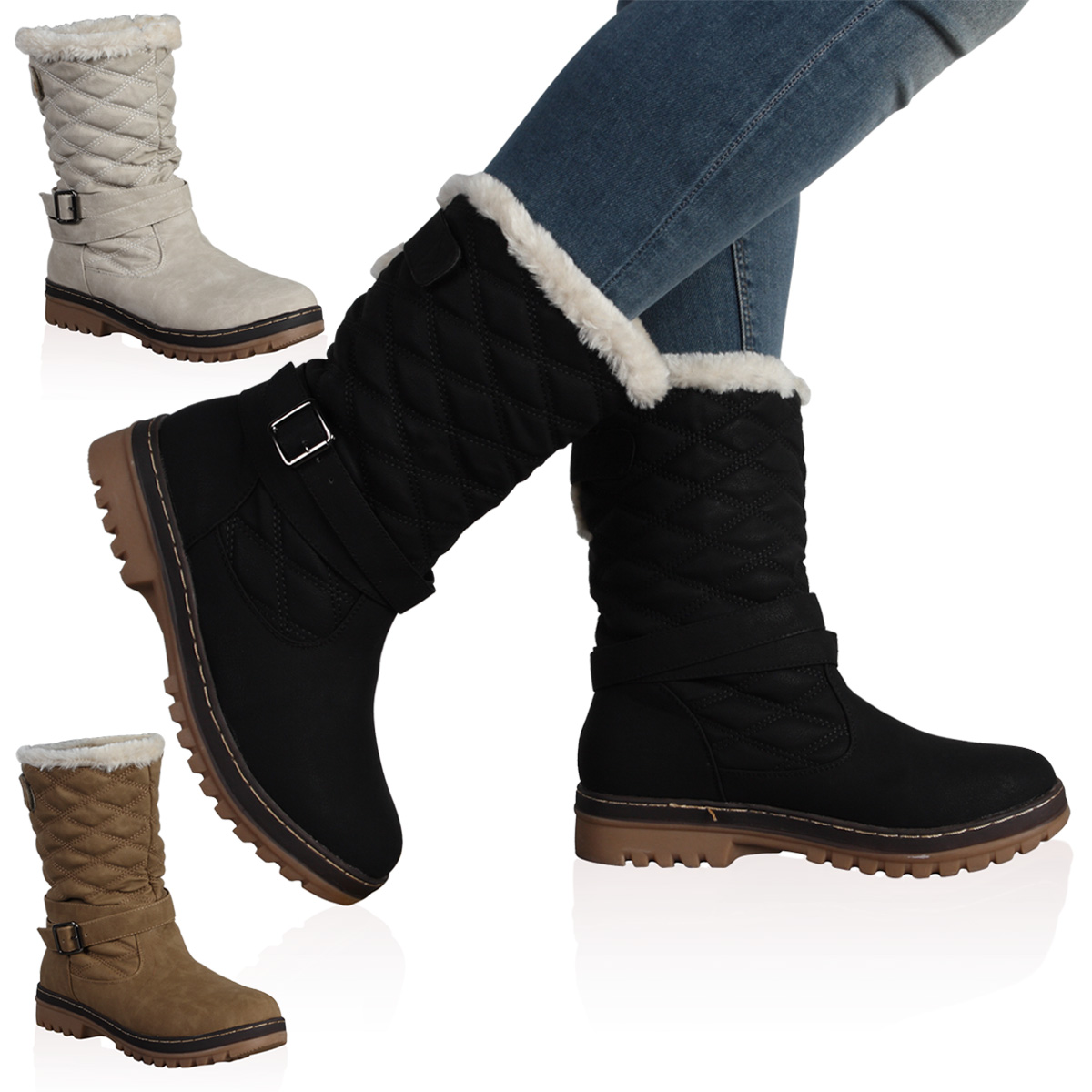 Women's Winter Boots Faux Fur | Planetary Skin Institute
