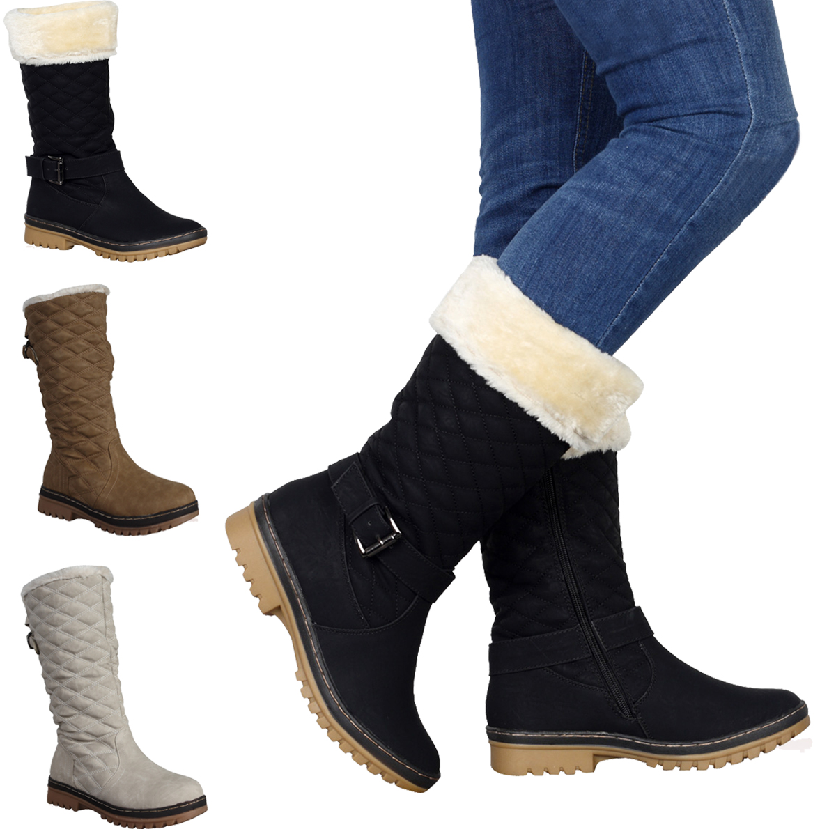 Next Womens Black Snow Boots | Santa Barbara Institute for ...
