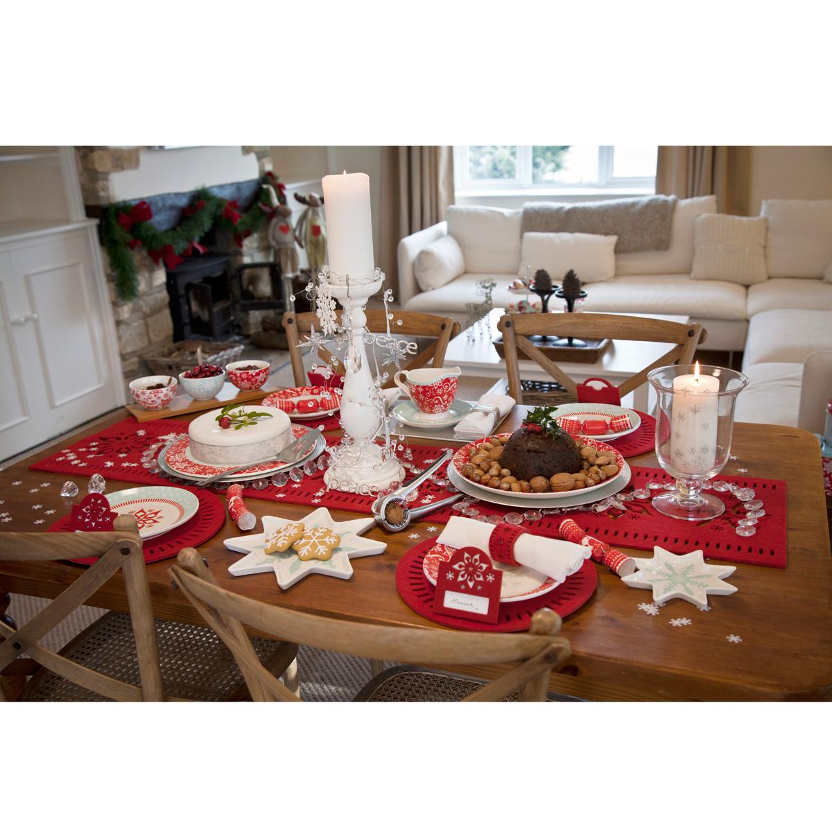 5 Piece Set Of Christmas Dinner Tableware Unique Home Living