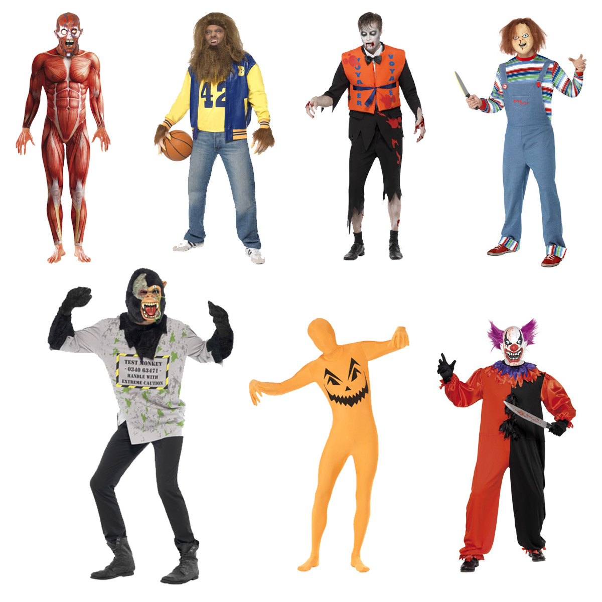 NEW MENS FANCY DRESS SMIFFYS HALLOWEEN SCARY ADULT THEME