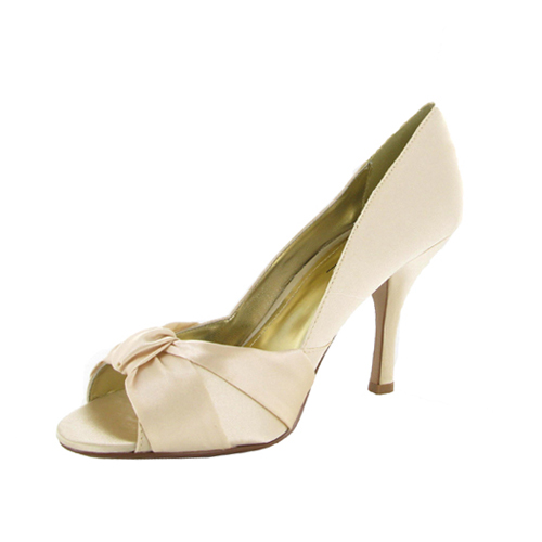 LADIES CHAMPAGNE WEDDING SHOES PROM SANDALS SIZE 5