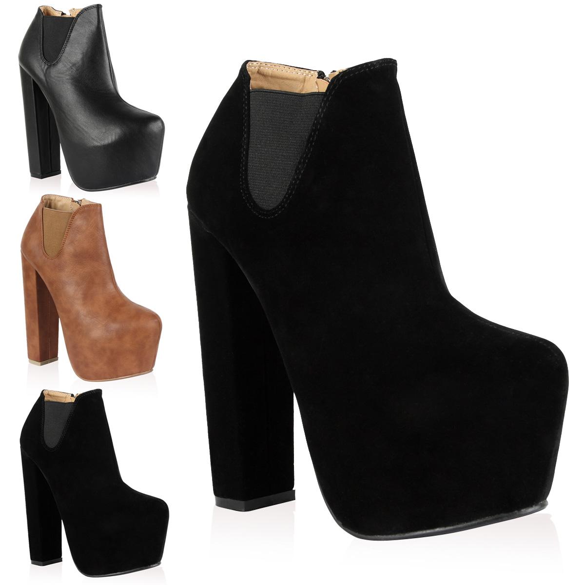 bottines cuir pour femme plateforme talon haut et zip chaussures