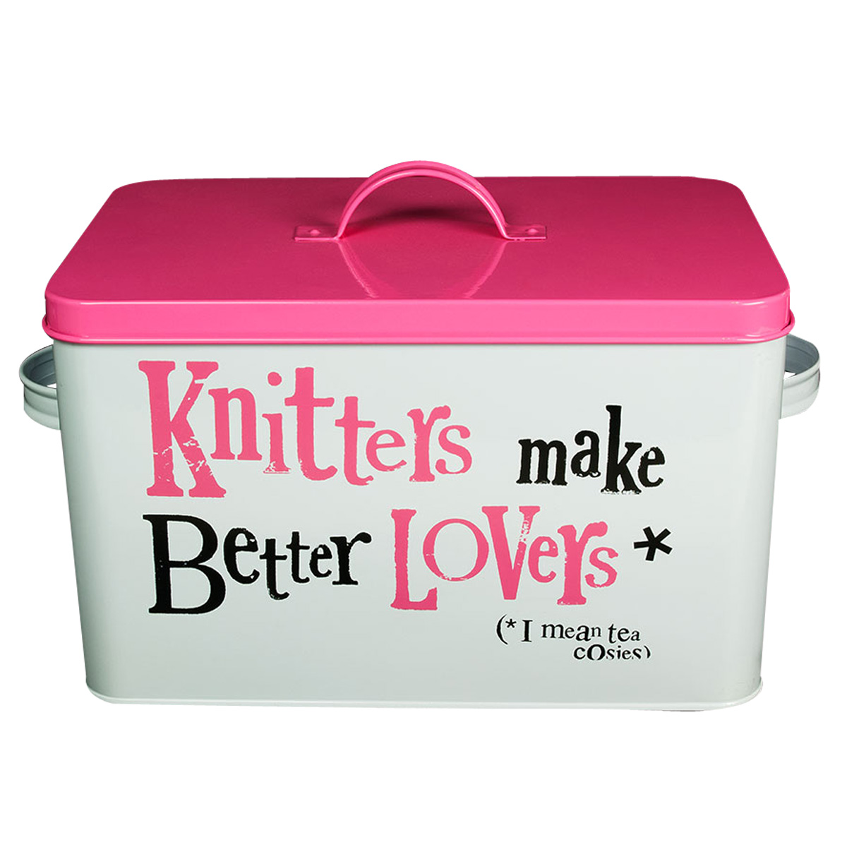 Knitting Supplies Storage Ideas : New the bright side pink white knitting supplies storage