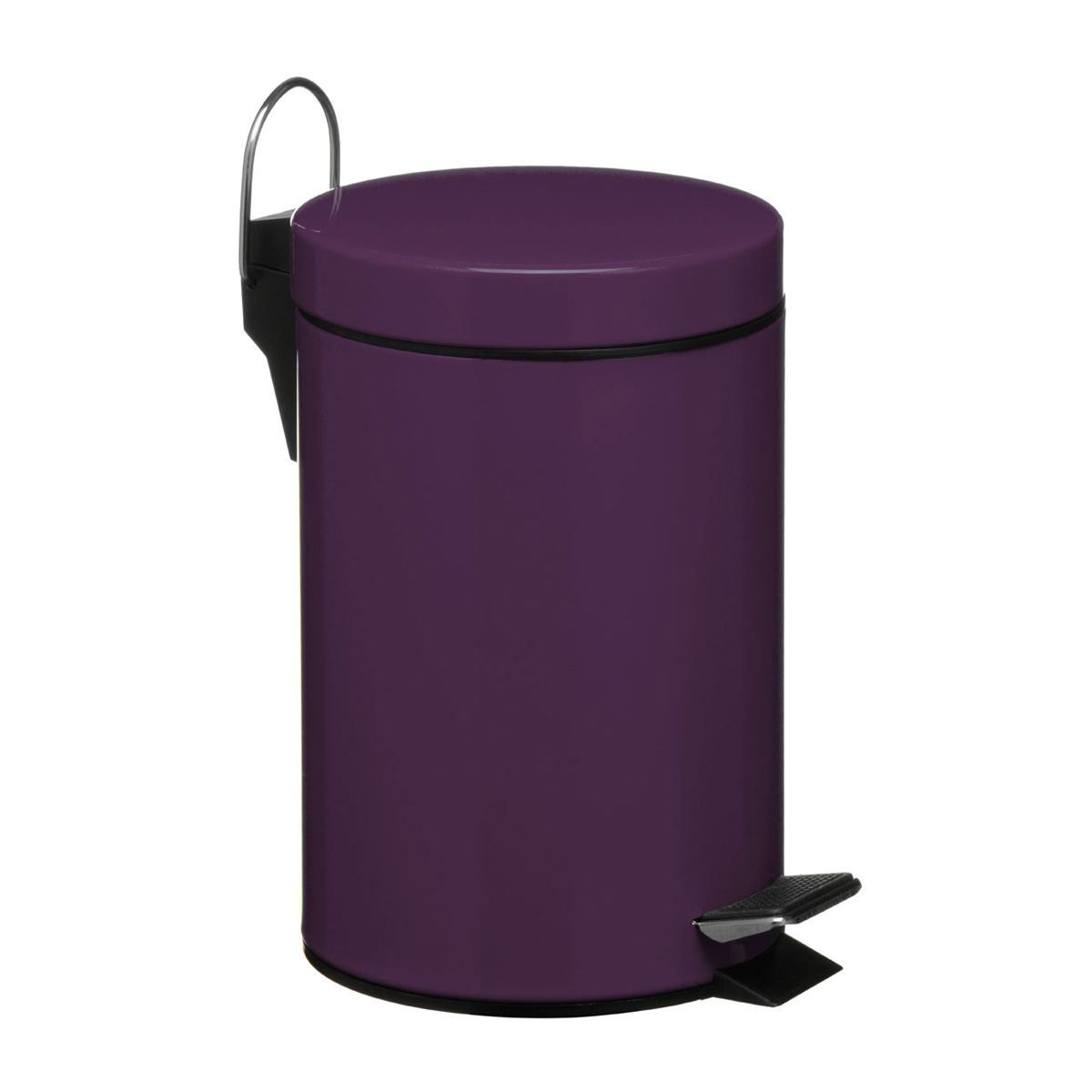 Purple bathroom pedal bin unique home living for Purple bathroom bin